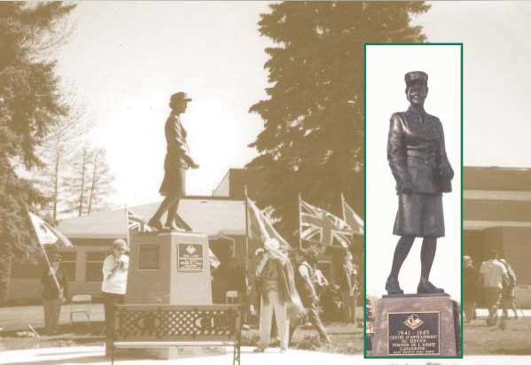 statue of female soldier